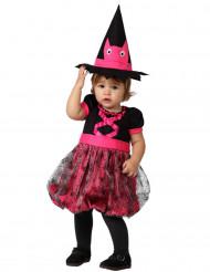 Disfraz de bruja rosa bebé Halloween