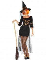 Disfraz de bruja tul telaraña mujer