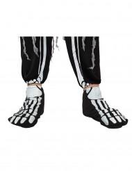 Cubre zapatos esqueleto adulto Halloween