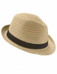 Sombrero borsalino con banda negra adulto