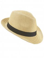 Sombrero borsalino banda negra adulto