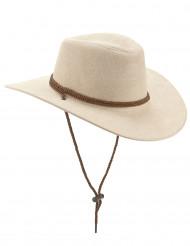 Sombrero vaquero beige adulto