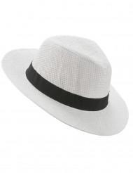 Sombrero Panamá con cinta negra adulto