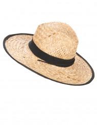 Sombrero cowboy con contorno negro adulto