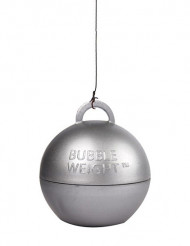 Peso globo de helio plateado