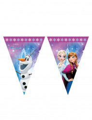 Guirnalda banderines de plástico Frozen Copos de Nieve™ 2,3 m