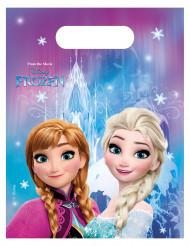 6 Bolsas regalos copos de nieve Frozen™