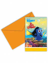6 Tarjetas de invitación con sobres Buscando a Dory™