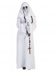 Disfraz de monja blanco mujer