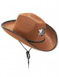 Sombrero Sherif marrón adulto