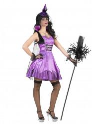 Disfraz vampiro barroco violeta mujer Halloween