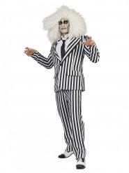 Disfraz traje de listas negras y blancas adulto.