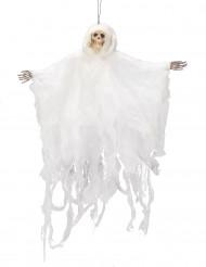 Decoración colgante esqueleto blanco 50 cm Halloween
