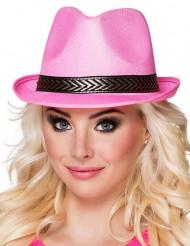 Sombrero borsalino trilby rosa adulto