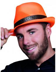 Sombrero borsalino trilby naranja fluo adulto