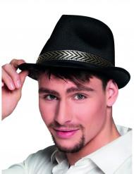 Sombrero borsalino trilby negro adulto