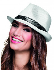 Sombrero borsalino trilby blanco adulto