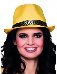 Sombrero borsalino trilby amarillo adulto
