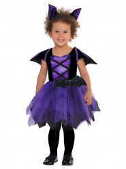 Disfraz de murciélago violeta bebé
