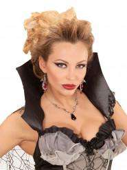 Collar murciélago negro mujer Halloween
