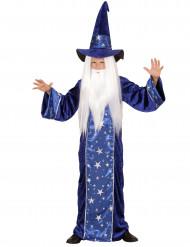 Disfraz de mago estrellas azul niño