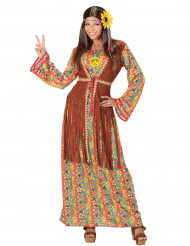Disfraz hippie flecos mujer