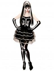 Disfraz de esqueleto tutú mujer Halloween