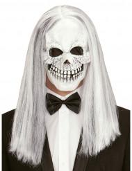 Máscara esqueleto con peluca adulto