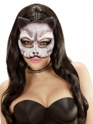 Máscara de gato fantasía adulto
