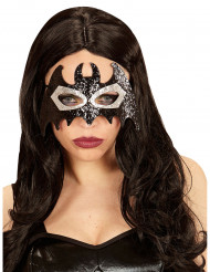 Máscara murciélago negro gris adulto