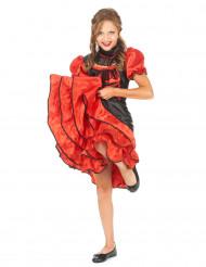 Disfraz cabaret rojo y negro niña