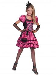 Disfraz cabaret rosa y negro niña