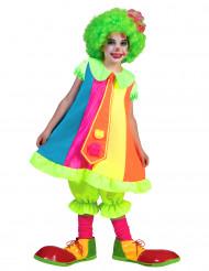 Disfraz payaso fluo niña
