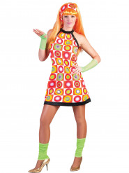 Disfraz retro naranja mujer