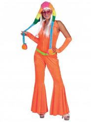 Disfraz traje naranja fluo mujer