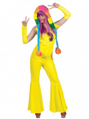 Disfraz traje amarillo fluo mujer