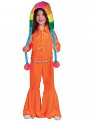 Disfraz traje naranja fluo niña