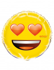 Globo aluminio ojos de corazones Emoji™