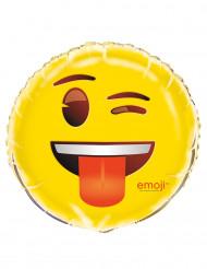 Globo aluminio guiño de ojo Emoji™