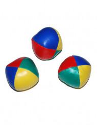 3 Bolas de malabares de colores 6 cm
