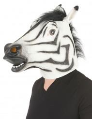 Máscara de cebra látex adulto