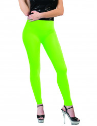 Legging verde fluorescente adulto