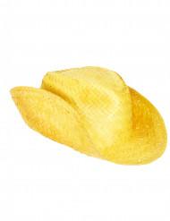 Sombrero de paja del Oeste amarillo adulto