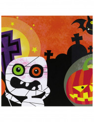 20 Servilletas de papel monstruos Halloween