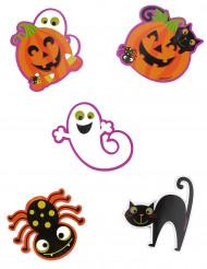 10 Confetis grandes de monstruos Halloween