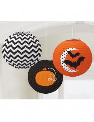 3 Farolillos dibujos Halloween 24 cm