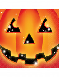 16 Servilletas papel calabaza Halloween