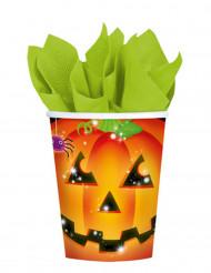 8 Vasos de calabaza Halloween 266 ml