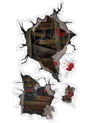 Pegatinas murales monstruos de Halloween
