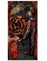 Decoración puerta payaso Halloween 85 cm x 165 cm